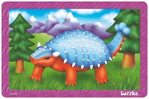 Tuzzles wooden Tray Puzzle Ankylosaurus