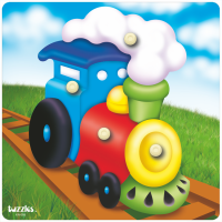 KN-088S - Train Tuzzles Wooden Knob Puzzle