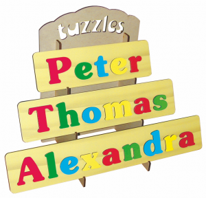 tuzzles personalized wooden name puzzles
