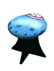 Ladybug Stool (blue)