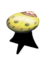 Ladybug Stool (yellow)