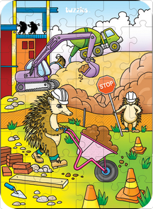 Hidden Image Table Puzzle Series - Hedgehog Construction