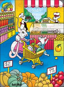Hidden Image Table Puzzle Series - Supermarket Mice