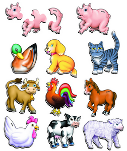 Animals Set of 10 - 9mm