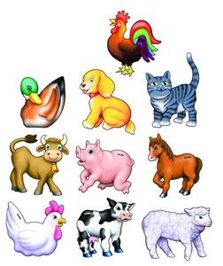Animals Set of 10 - 9mm