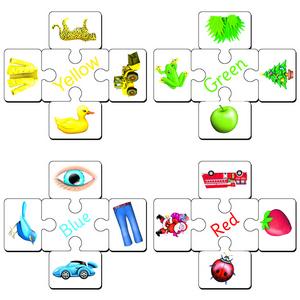 Colour Matching Squares Set 3 (R,G,B,Y)
