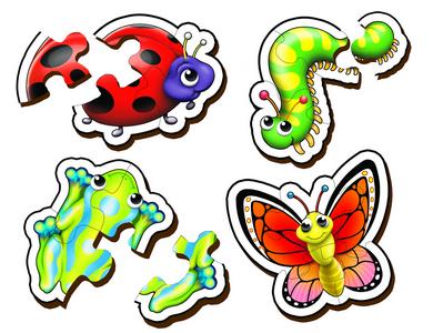 Garden Creatures Set 2 - Table Puzzles
