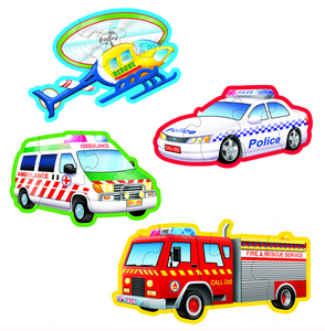 Emergency Vehicles - Table Puzzles