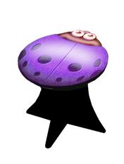 Ladybug Stool (purple)