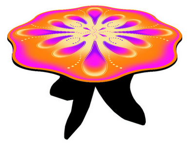 Orange Fairy Table