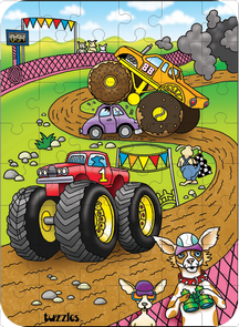 Hidden Image Table Puzzle Series - Dogs and Trucks
