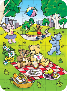 Hidden Image Table Puzzle Series - Teddy Bears' Picnic