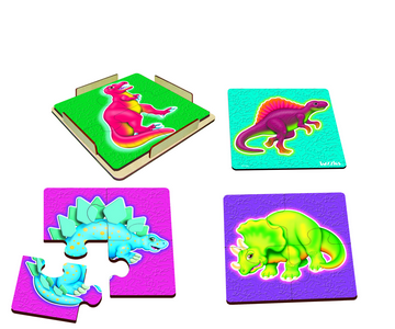 Dinosaurs Set of 4 - Table Puzzles