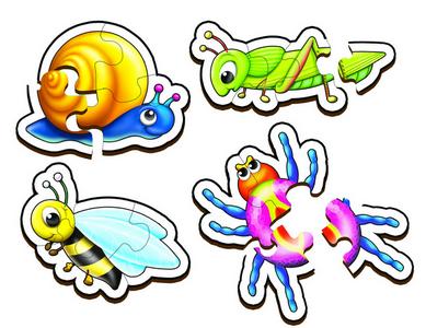 Garden Creatures Set 1 - Table Puzzles